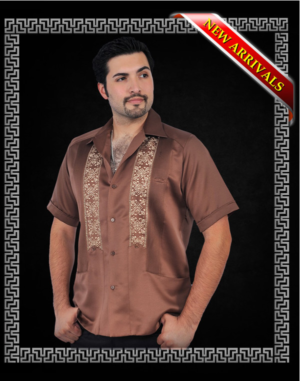 GUAYABERA W/EMBROIDERY short sle