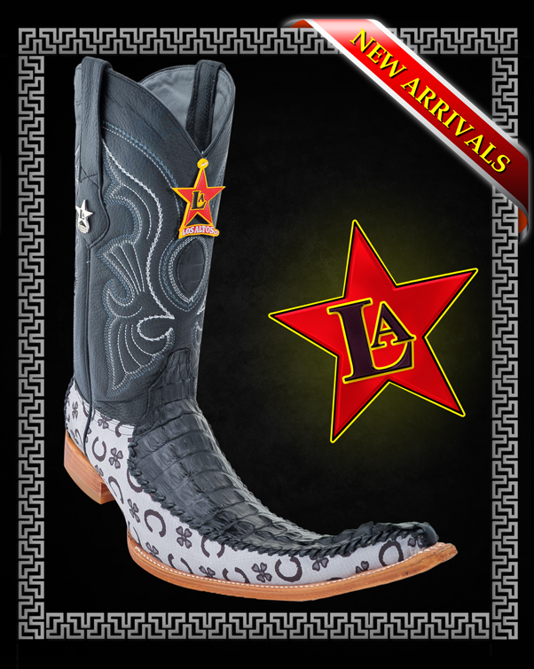Los Altos Boots Logo Caiman Tail W/fashion Design